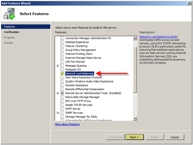 Install and Configure NLB (WLBS) on Windows Server 2008