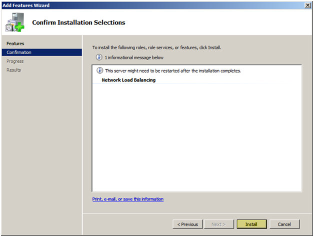 Install and configure nlb wlbs on windows server 2008 jppinto installation will proceed to install the necessary components publicscrutiny Images