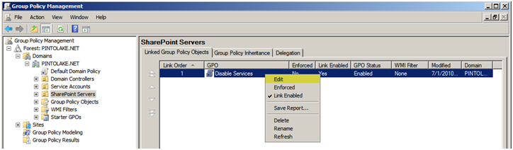 Creating a GPO to Disable Services on Windows Servers « JPPinto com