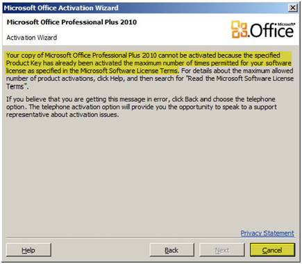 activate microsoft word 2010 professional plus