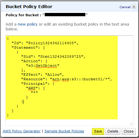 Access Denied to files in an Amazon S3 Bucket « JPPinto com – Tech Blog