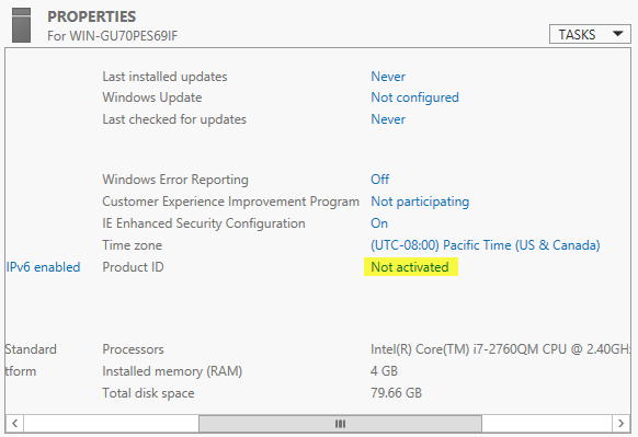 windows server 2012 product key not found